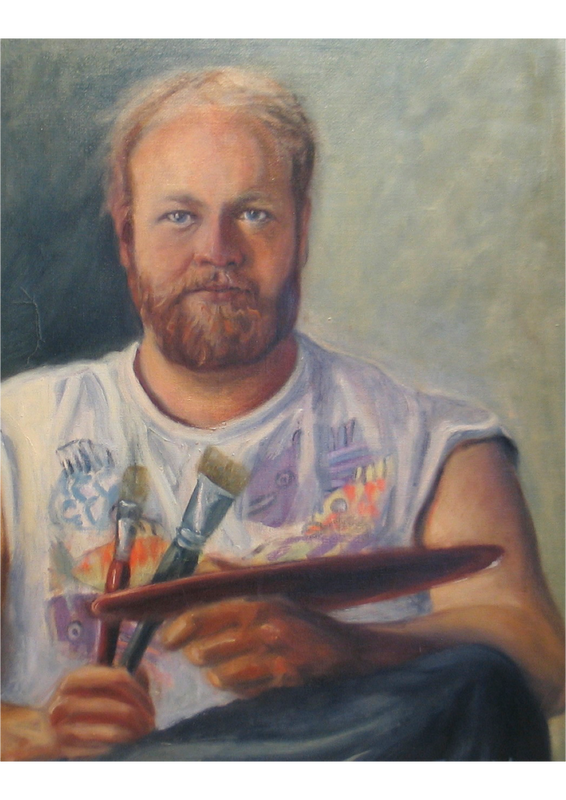 portrait oil painting 2002 May Kristin Fjerme