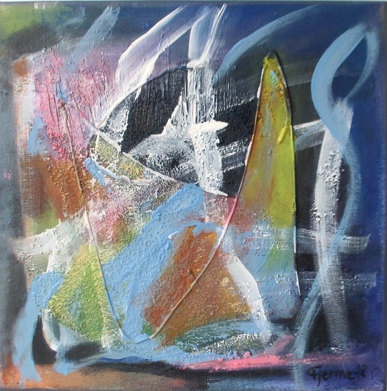 Post Paris III, Mixed Media 30x30 cm May Kristin Fjerme